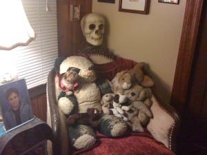 Panda and Tracy ( my bear)